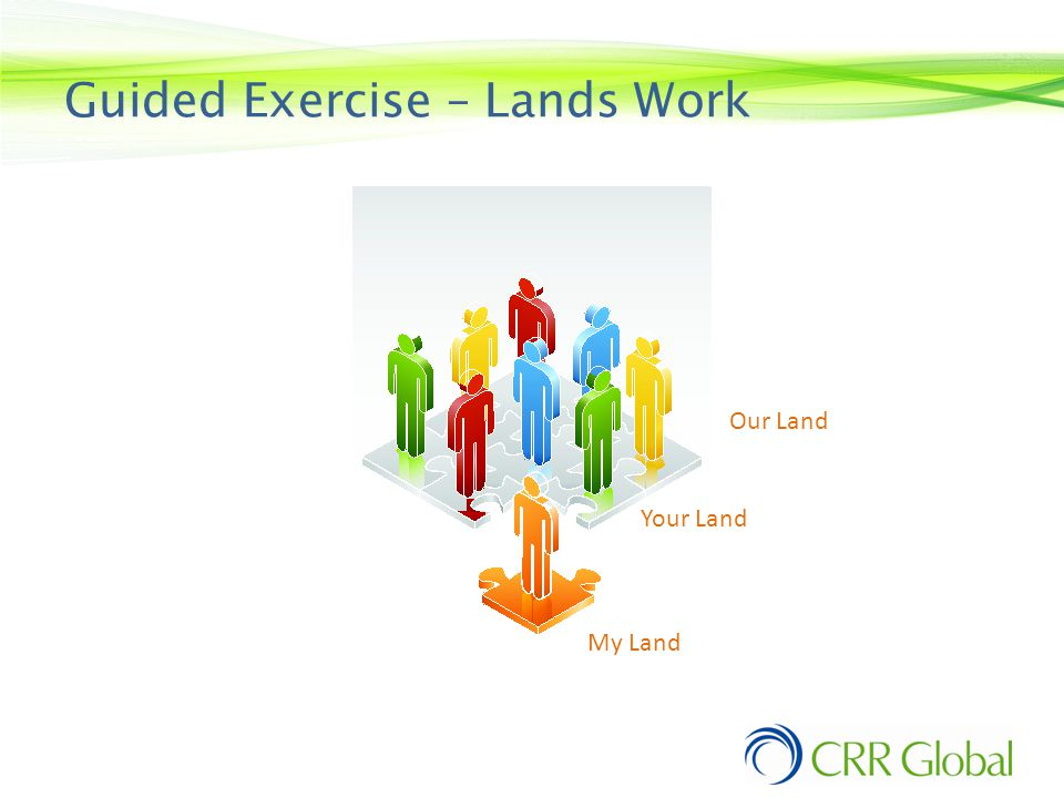 Guided Exercise – Lands Work Lands Work My Land Your Land Our Land