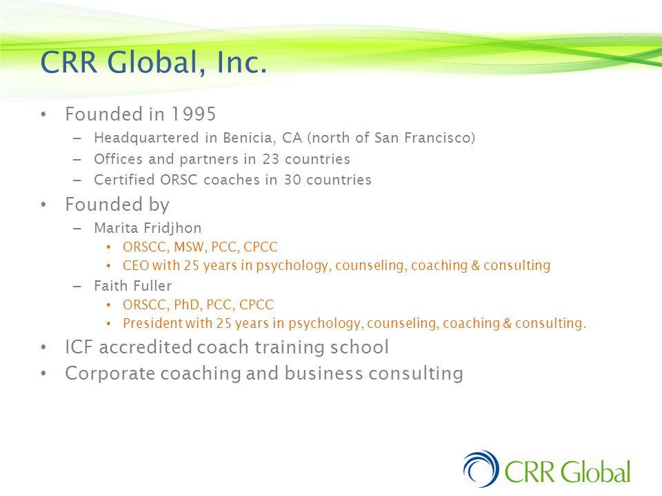 CRR Global, Inc.