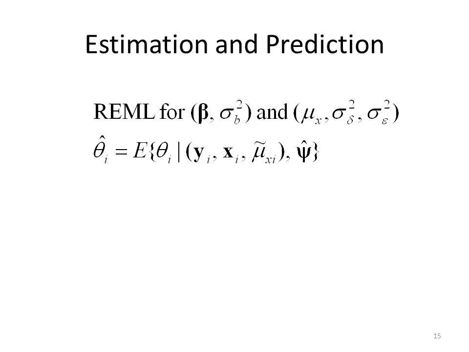 Estimation and Prediction 15