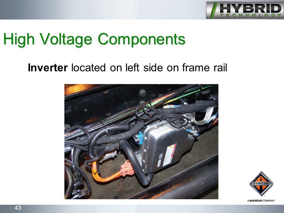 43 High Voltage Components Inverter located on left side on frame rail