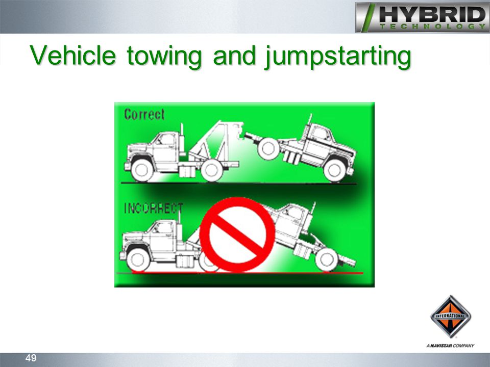 49 Vehicle towing and jumpstarting
