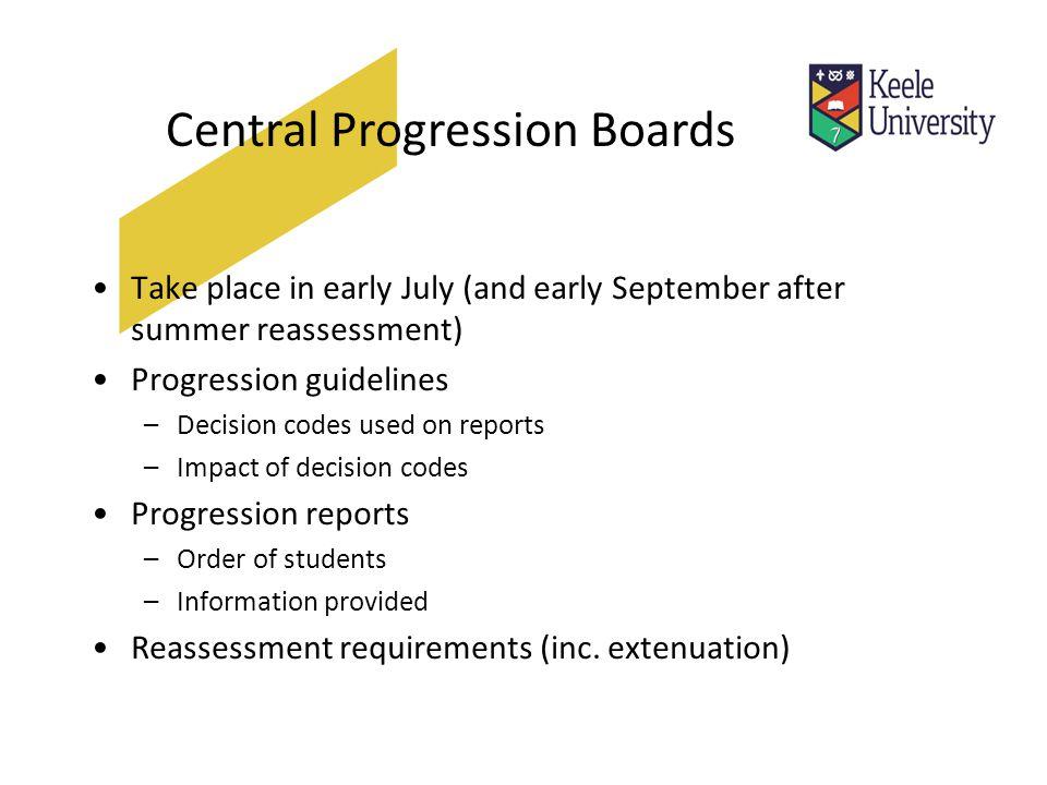 Progression report