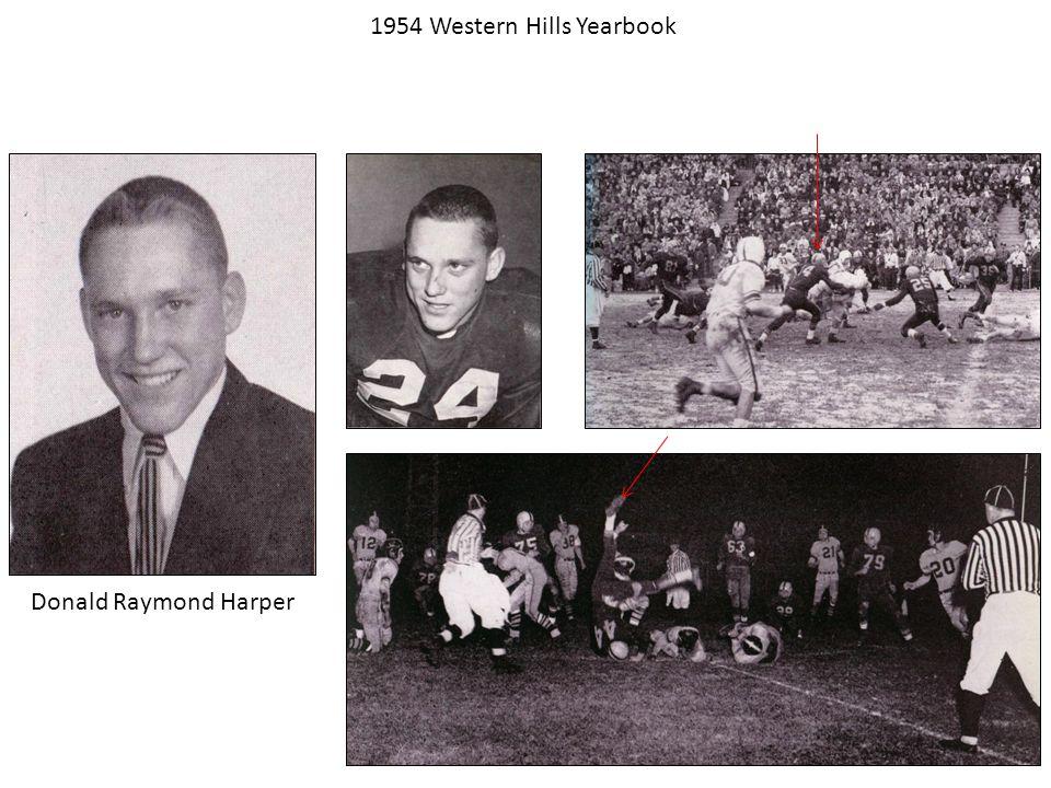 Donald Raymond Harper 1954 Western Hills Yearbook