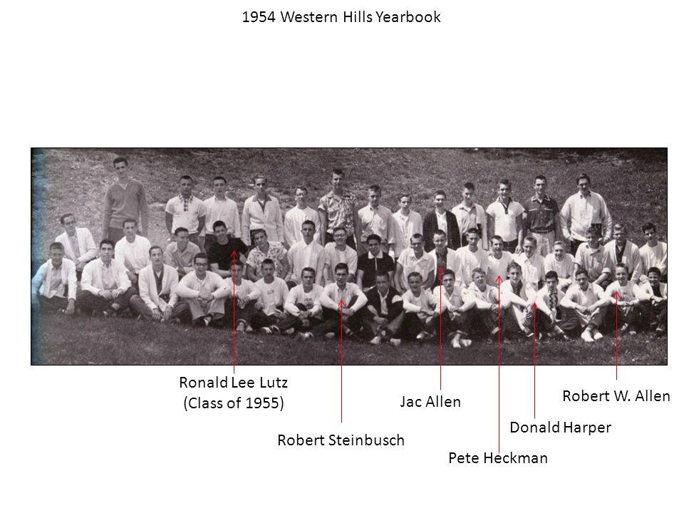1954 Western Hills Yearbook Robert W.
