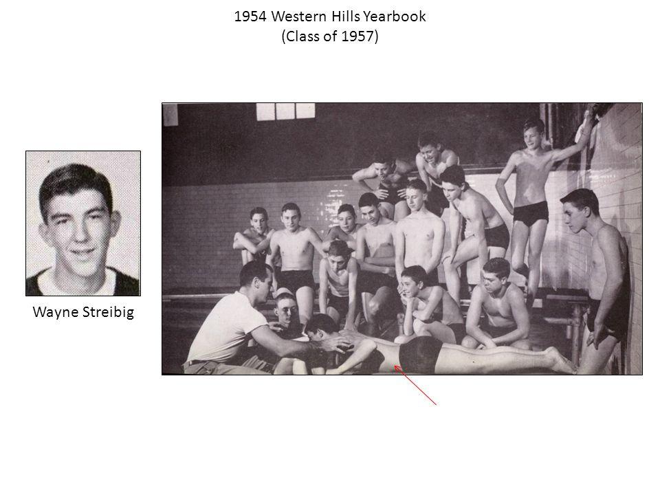 1954 Western Hills Yearbook (Class of 1957) Wayne Streibig
