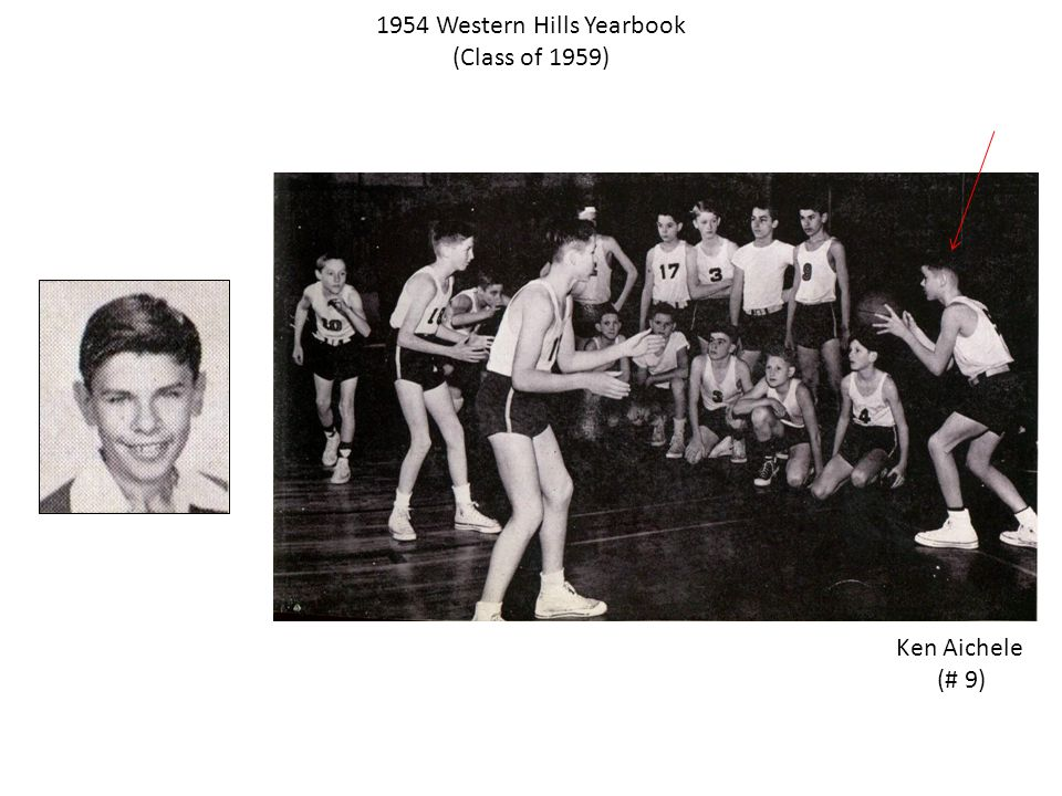 1954 Western Hills Yearbook (Class of 1959) Ken Aichele (# 9)