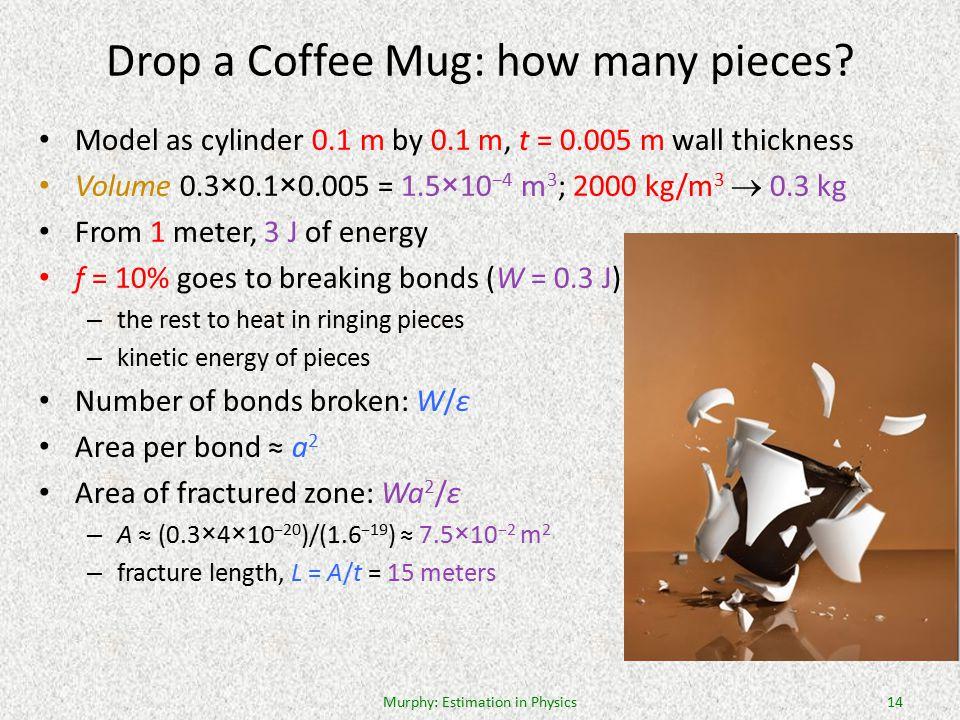 Drop a Coffee Mug: how many pieces.