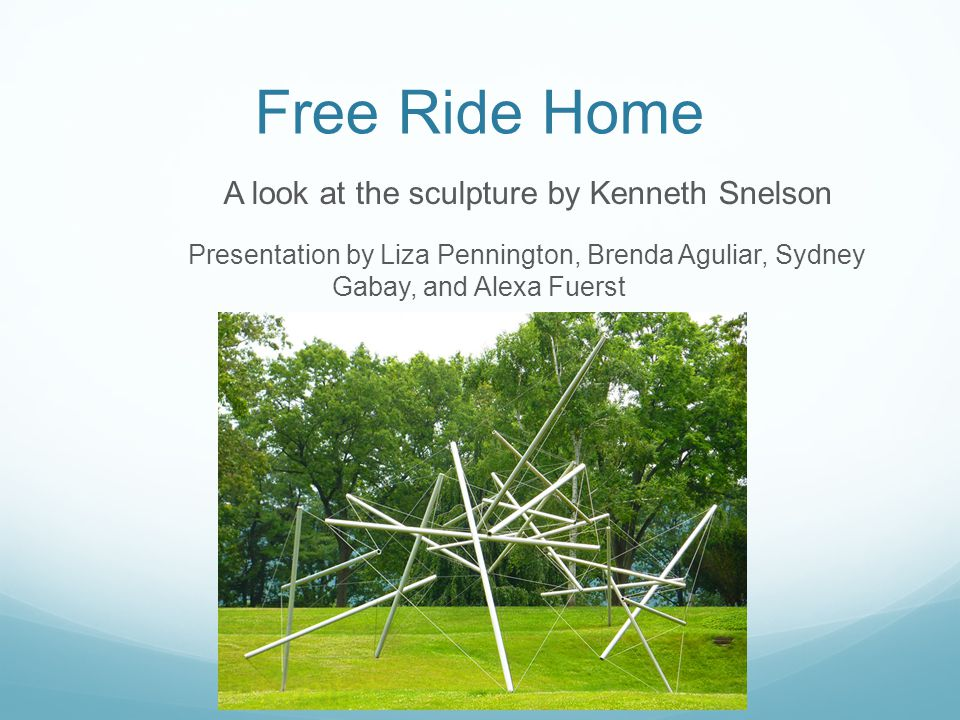 Kenneth Snelson Born in 1927 in Pendleton, Oregon (86 years old) Studied at the University of Oregon in Eugene, as well as at Black Mountain College, and in Paris, with Fernand Léger.