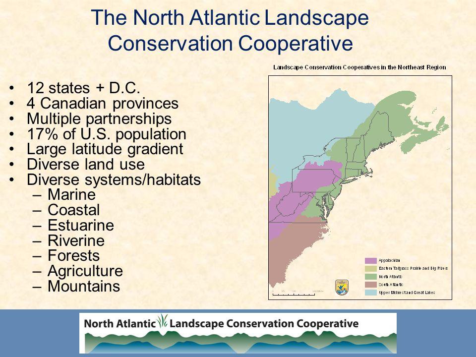 The North Atlantic Landscape Conservation Cooperative 12 states + D.C.