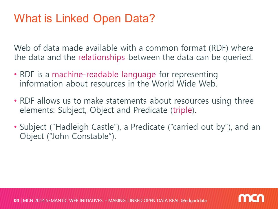 What is Linked Open Data.