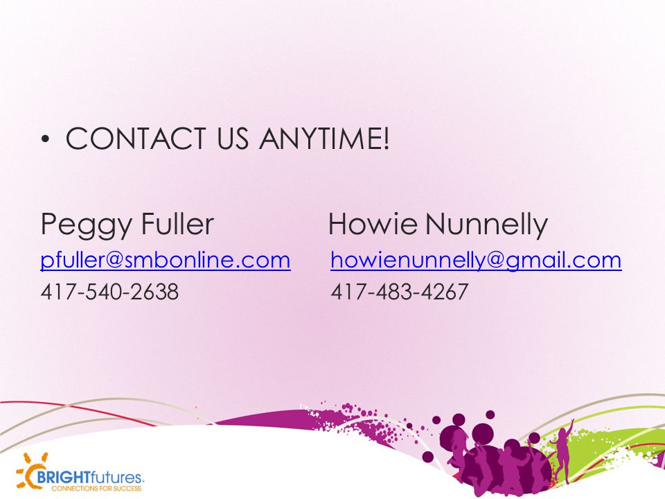 CONTACT US ANYTIME.