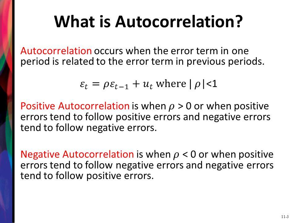 11-4 No Autocorrelation