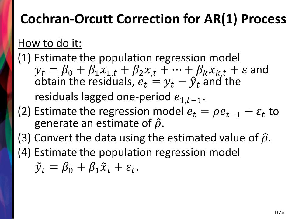 11-30 Cochran-Orcutt Correction for AR(1) Process