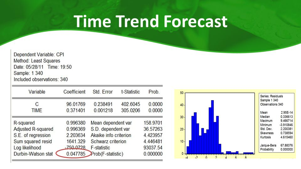 Time Trend Forecast