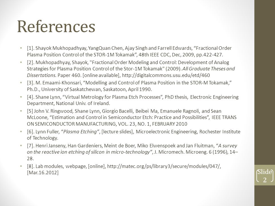 References [1].