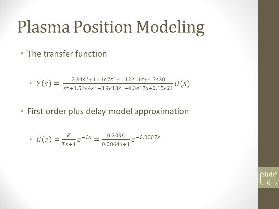 Plasma Position Modeling Slide 6