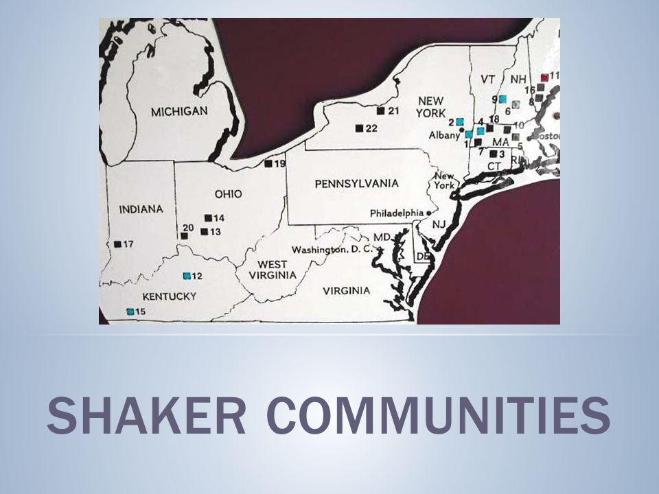 SHAKER COMMUNITIES