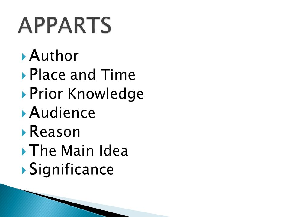  The Author , Place and Time , Audience , and Reason prompts encourage the student to consider the usefulness of the document as a piece of evidence.