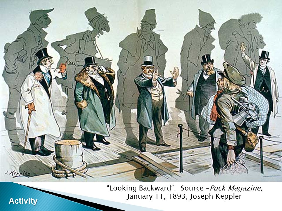 Looking Backward : Source –Puck Magazine, January 11, 1893; Joseph Keppler Activity Activity