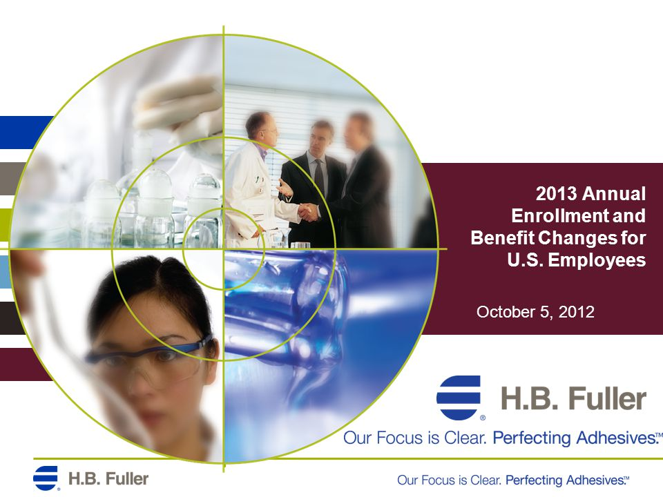 2013 Annual Enrollment and Benefit Changes for U.S. Employees October 5, 2012