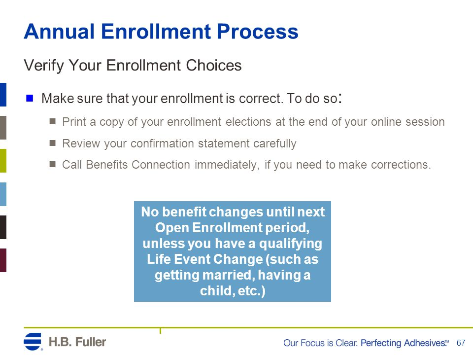 Annual Enrollment Process Verify Your Enrollment Choices  Make sure that your enrollment is correct. To do so :  Print a copy of your enrollment ele