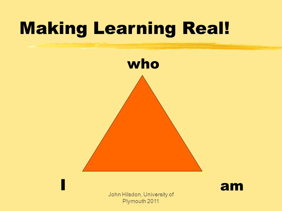Making Learning Real! who am I