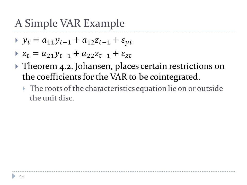 A Simple VAR Example 22