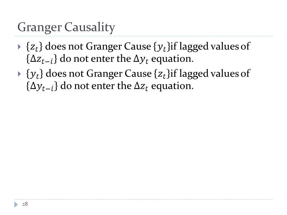 Granger Causality 28