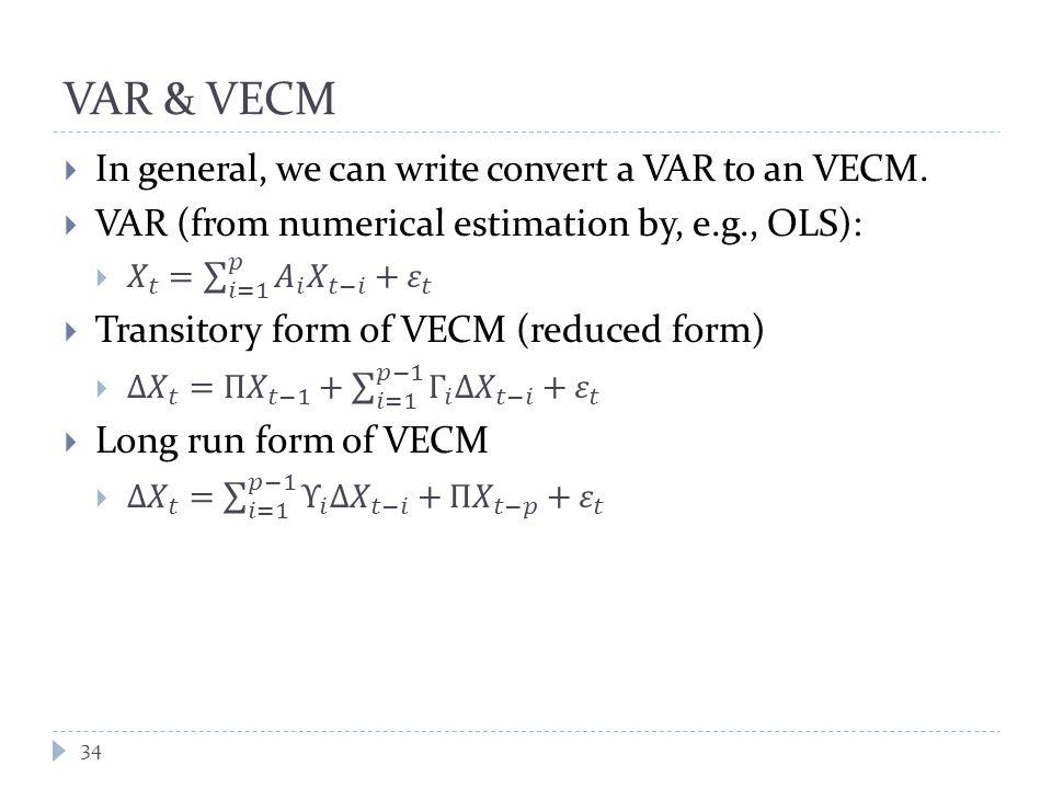 VAR & VECM 34