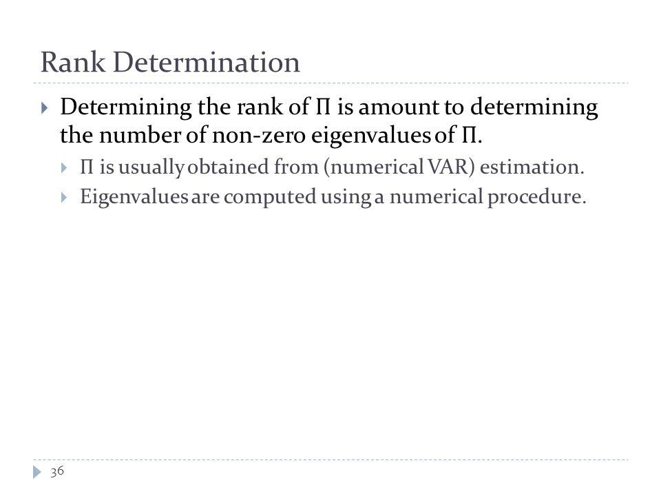 Rank Determination 36