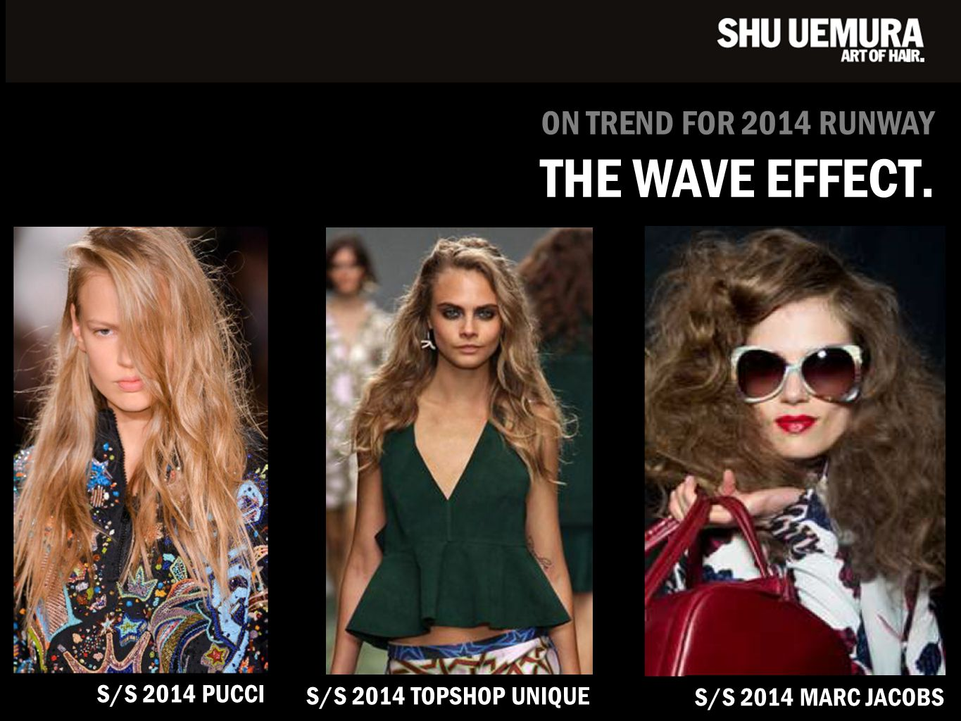 S/S 2014 PUCCI ON TREND FOR 2014 RUNWAY THE WAVE EFFECT. S/S 2014 TOPSHOP UNIQUE S/S 2014 MARC JACOBS