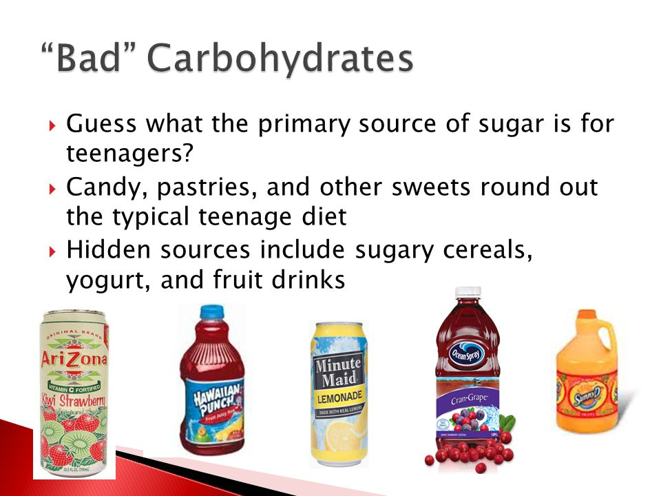  Guess what the primary source of sugar is for teenagers.