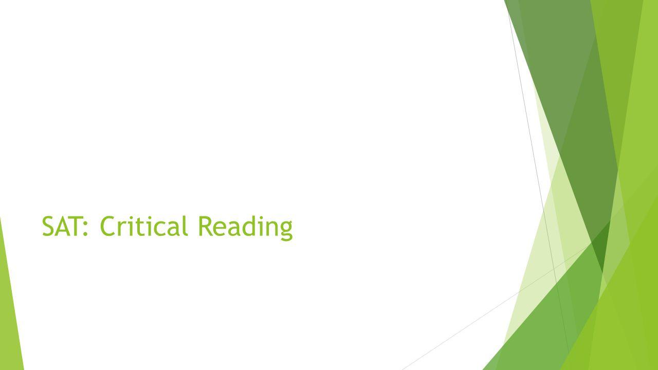 SAT: Critical Reading