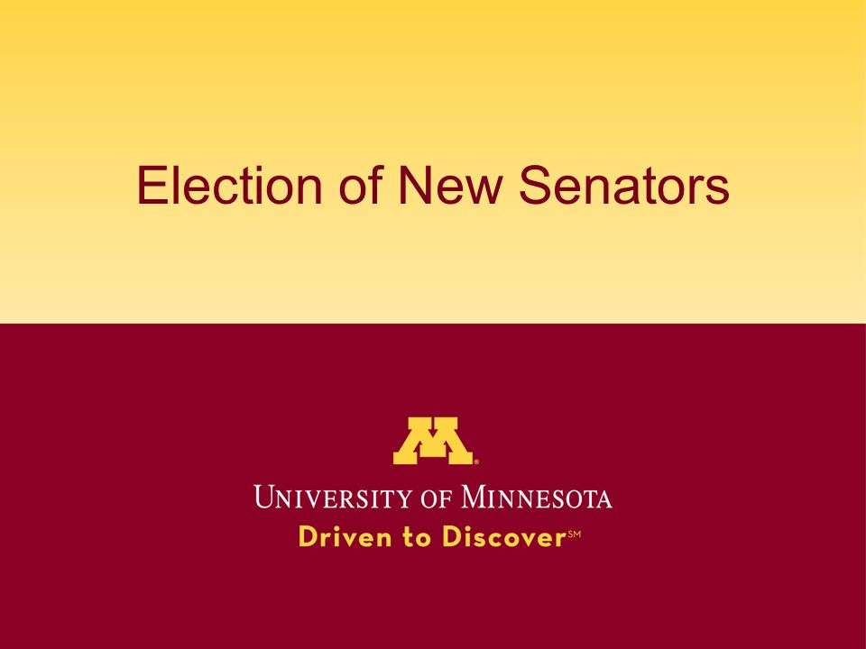 Election of New Senators
