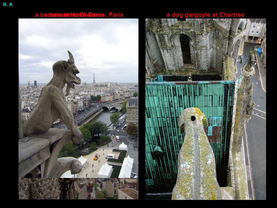 a dog gargoyle at Chartresa beastie at Chartresa beastie at Notre-Dame, Paris III. A.