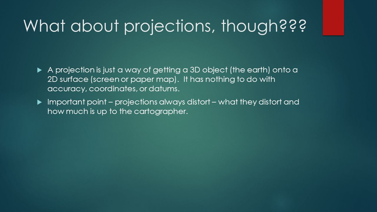 What about projections, though??.