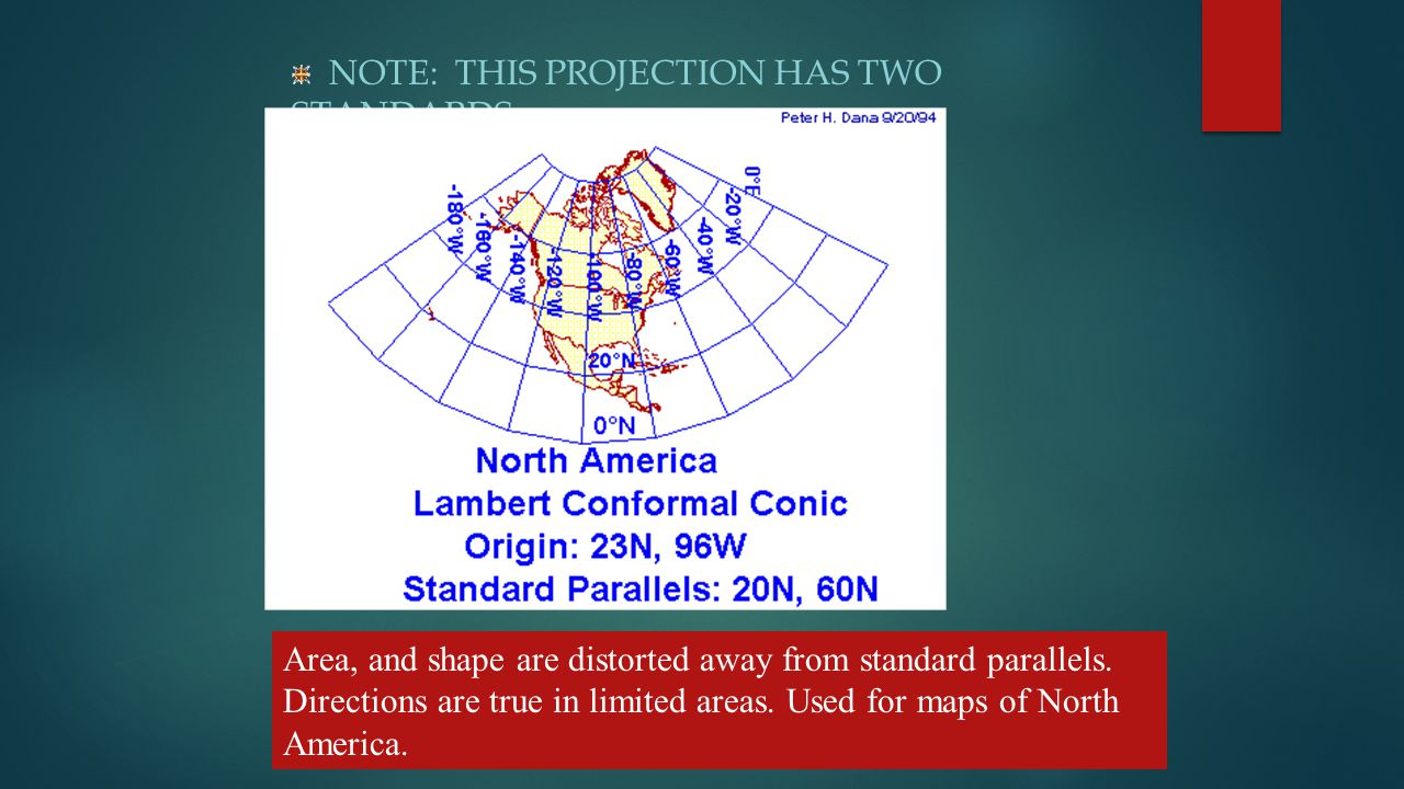 NOTE: THIS PROJECTION HAS TWO STANDARDS.