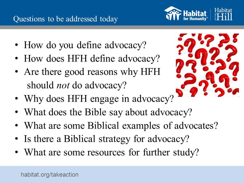 habitat.org/takeaction Who am I.