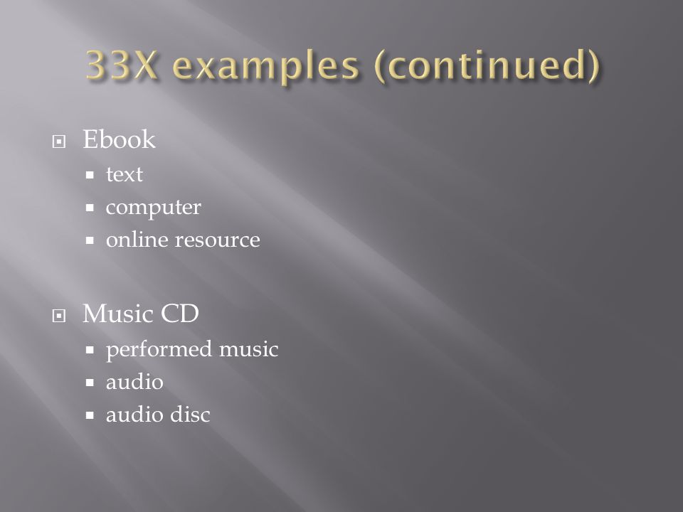  Ebook  text  computer  online resource  Music CD  performed music  audio  audio disc