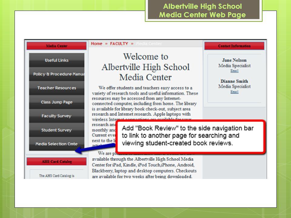 Albertville High School Media Center Web Page