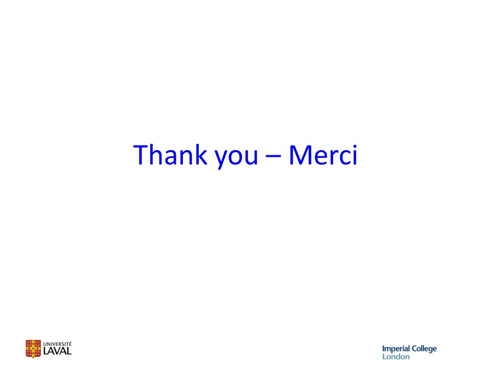 Thank you – Merci