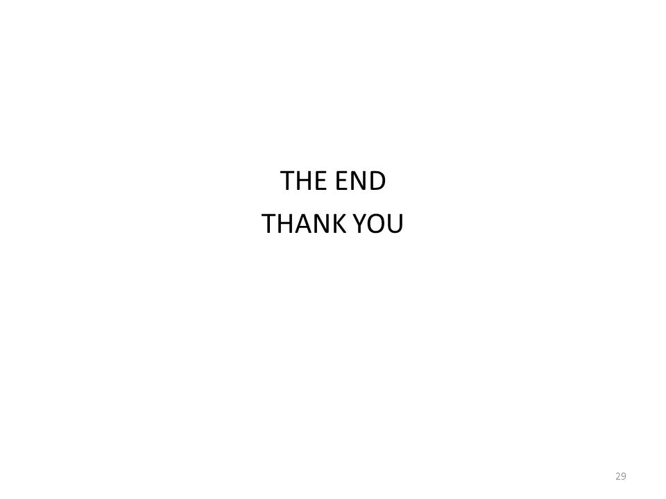 THE END THANK YOU 29