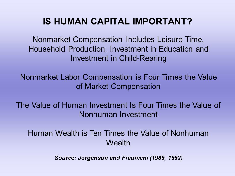 IS HUMAN CAPITAL IMPORTANT.