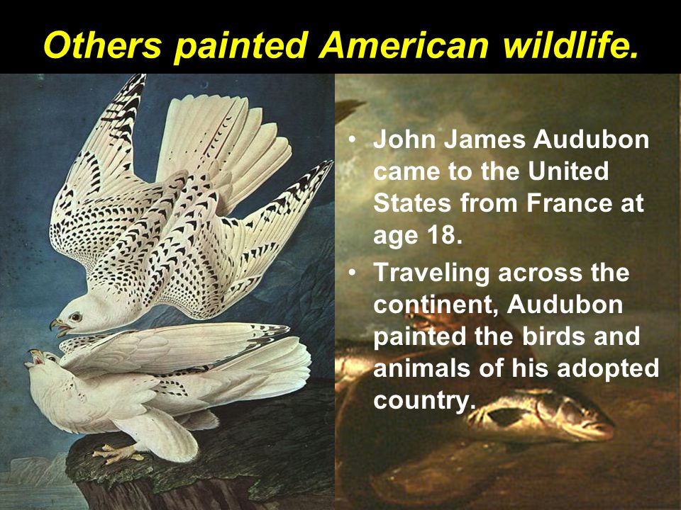 Others painted American wildlife.