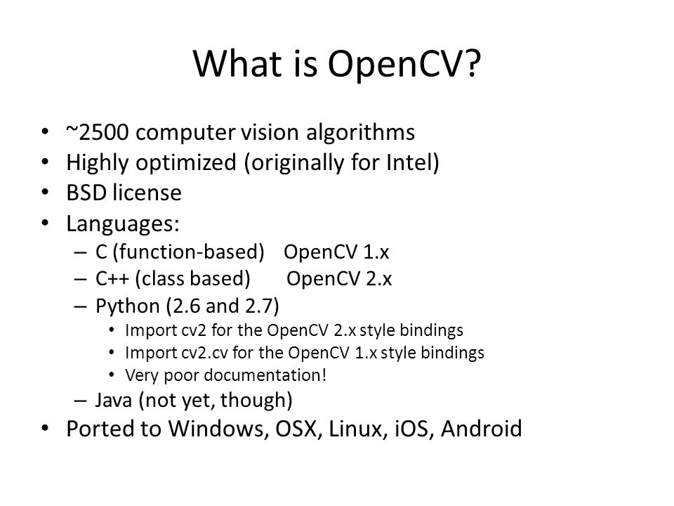 What is OpenCV.
