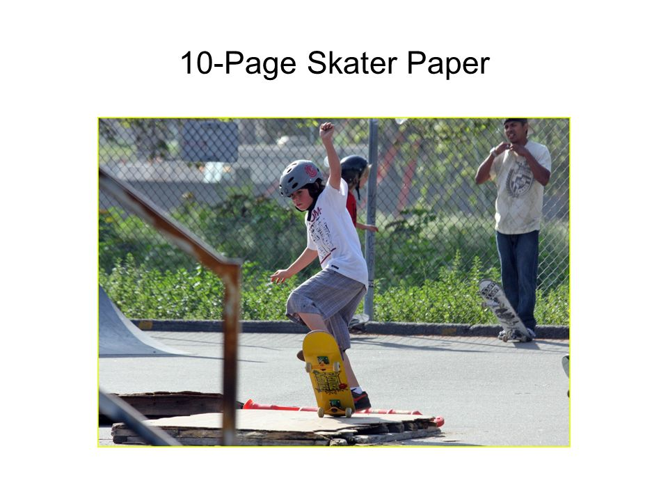10-Page Skater Paper