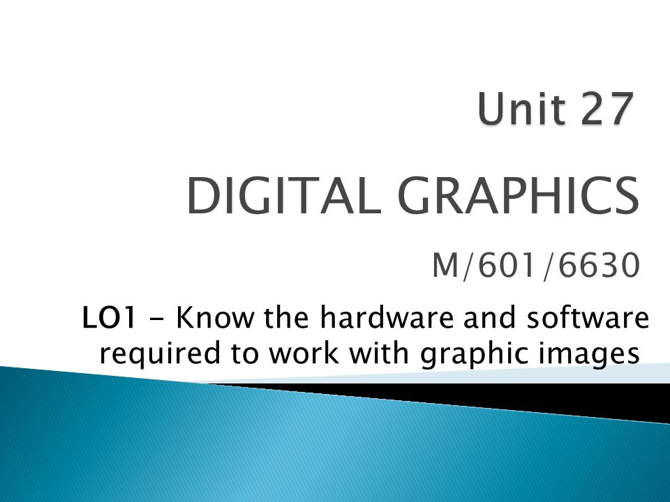  Once the hardware is sorted out, the user then needs to decide what kind of software package to use to create and edit their graphics.
