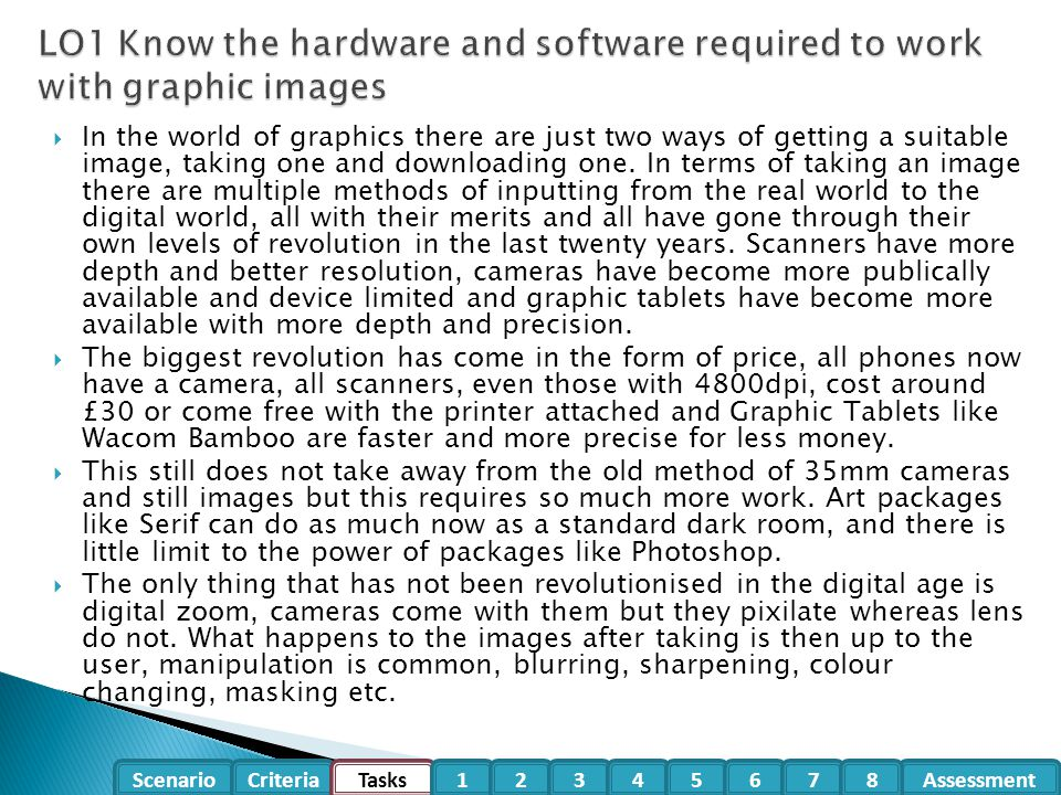 P1.1 – Task 01 – Describe the technology behind Scanners and discuss the advantages and disadvantages of this technology in Image gathering.