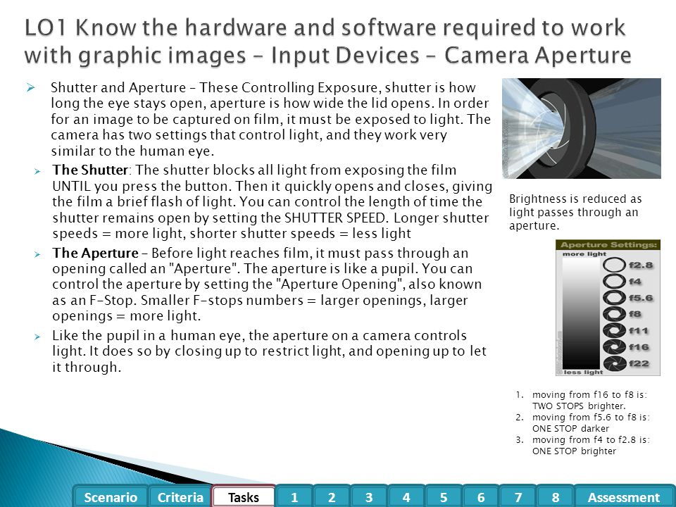 Balancing Shutter and Aperture: Exposure is about different combinations of shutter and f-stop settings.