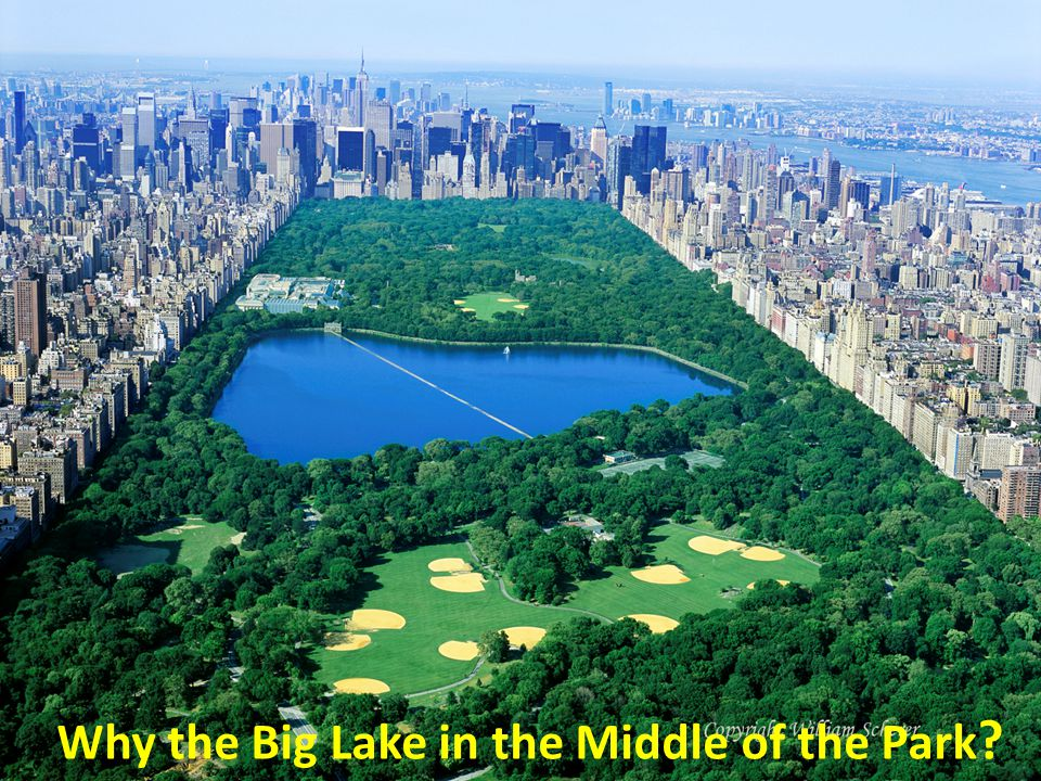 Why the Big Lake in the Middle of the Park ?